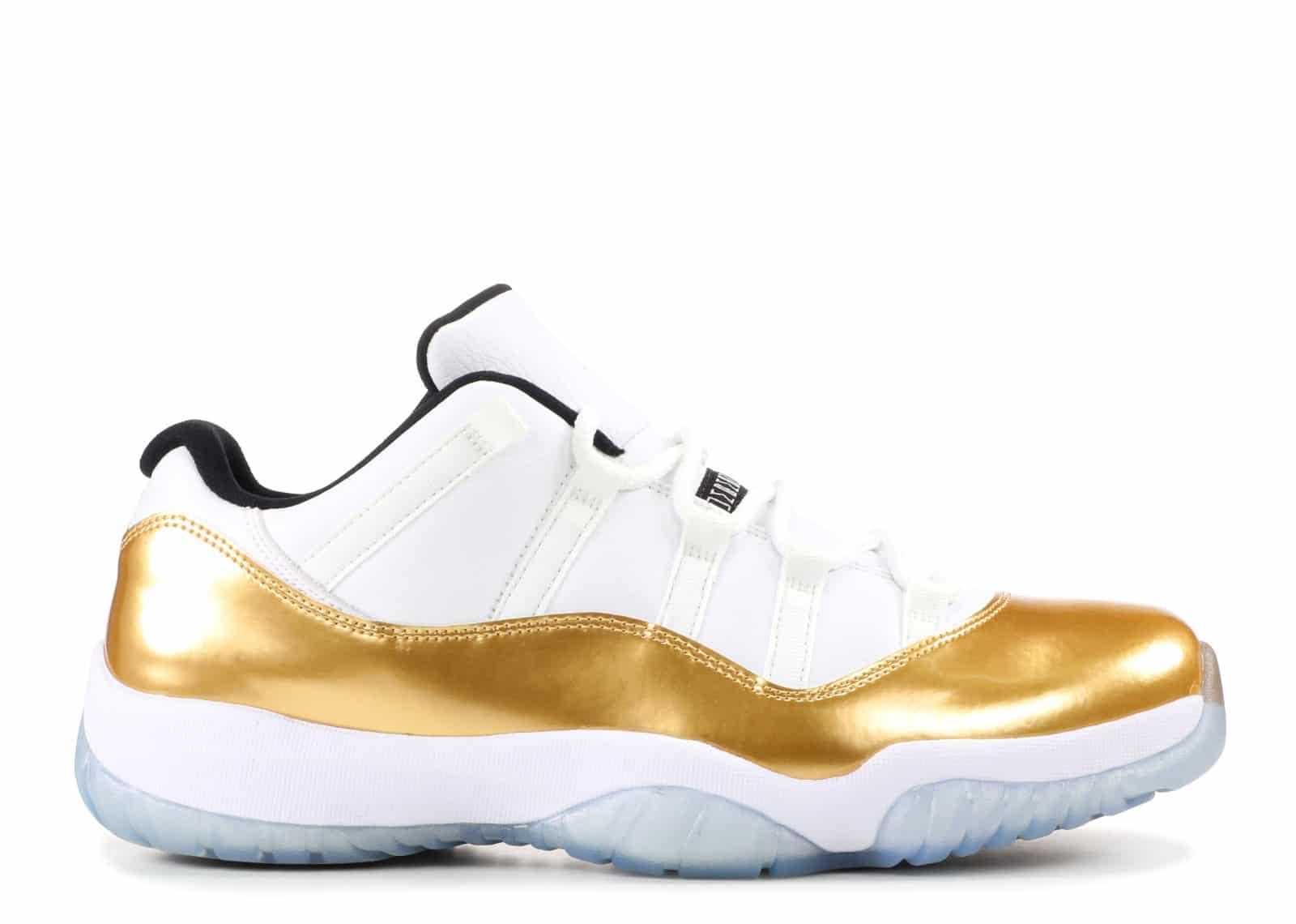 Air Jordan 11 Retro Low White/ Gold