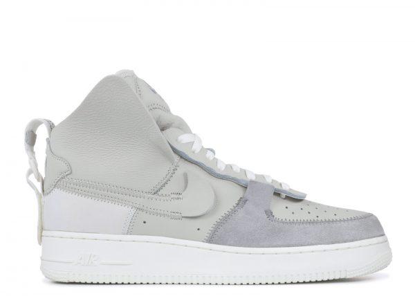 white nike air force high silver