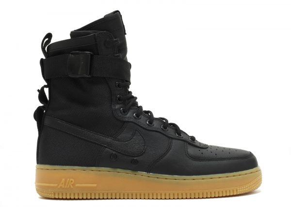 Nike SF AF1 Air Force Mid GS Hi Top Trainers AJ0424 Sneakers Shoes (UK 5 US 5.5Y EU 38, Black Black Black 003)
