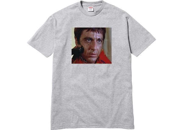 0e4cbc34e929 Supreme Scarface Shower Tee Grey - kickstw