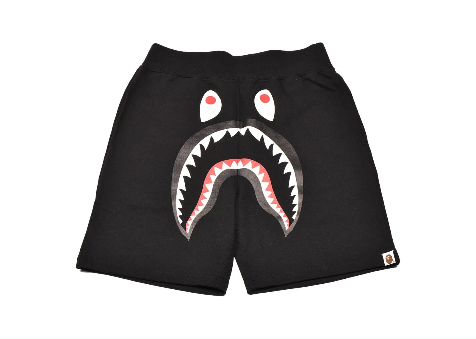 a7450aa977 Bape Shark Sweat Shorts Black - kickstw