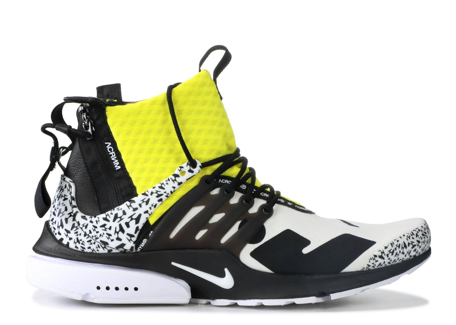 Bape X Kaws >> Nike Air Presto Mid Acronym Dynamic Yellow - kickstw