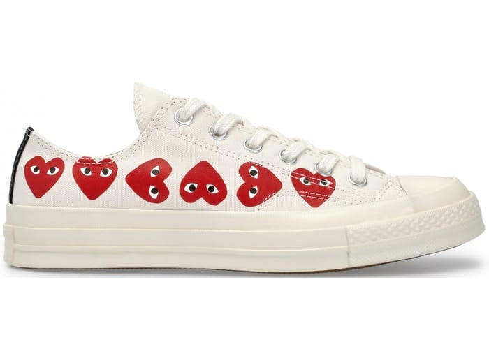 Comme des Garcons PLAY x Converse Chuck Taylor Multi Heart White Low