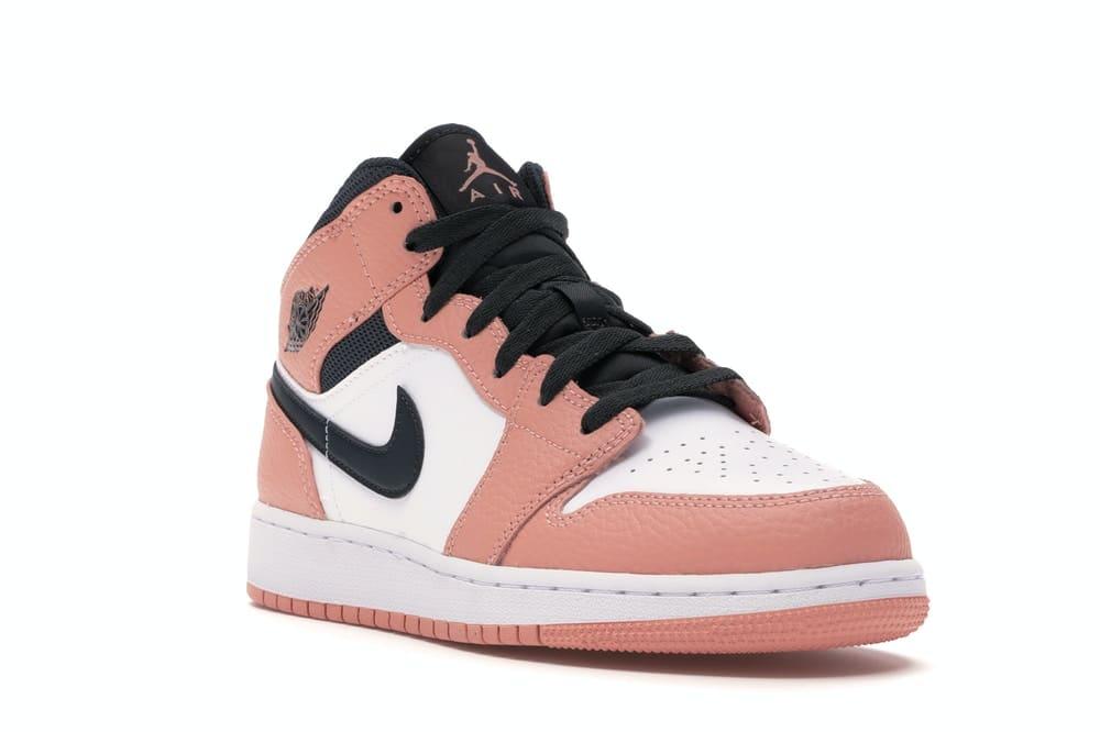 Air Jordan 1 Mid Pink Quartz (GS) - kickstw